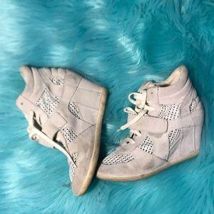 Ash limited bone suede wedge sneakers 36